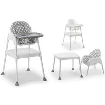 Moje Çalışma Masası Olabilen Mama Sandalyesi Gri