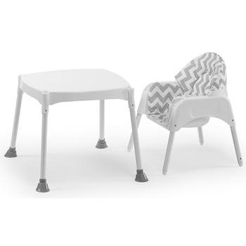 Moje Çalışma Masası Olabilen Mama Sandalyesi Mavi
