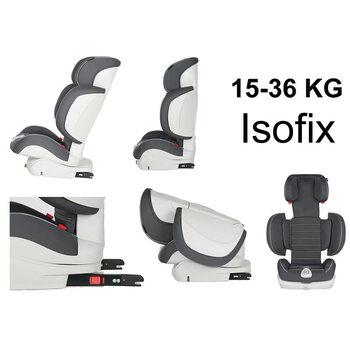 Prego Journey Isofixli Oto Koltuğu Grup 2-3 (15-36 kg) Gri