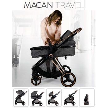 Prego Macan Travel Sistem Bebek Arabası Gri