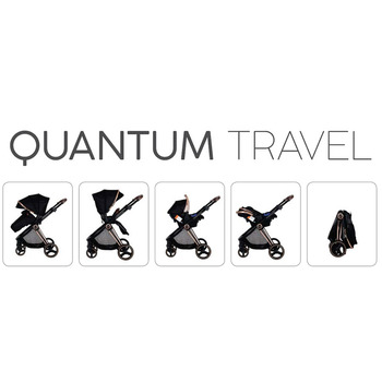 Prego Quantum Travel Sistem Bebek Arabası Siyah