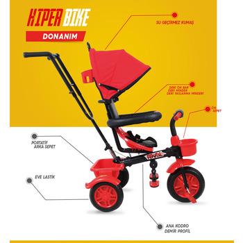 Rival Hiper Bike Ebeveyn Kontrollü 3 Tekerlekli Çocuk Bisikleti Kırmızı