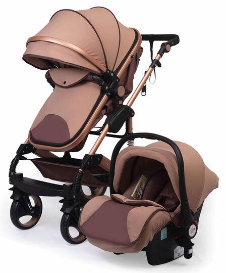 Baby Elf Gold Kasa Travel Sistem Bebek Arabası HEDİYELİ Kahverengi