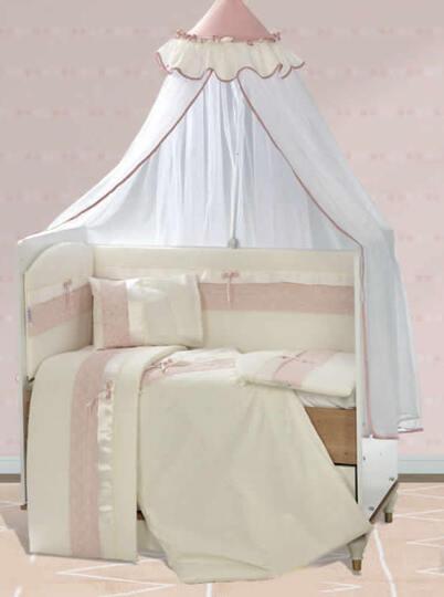 Baby Elf İnci Bebek Uyku Seti + Cibinlik (70 x 130 cm) Pembe