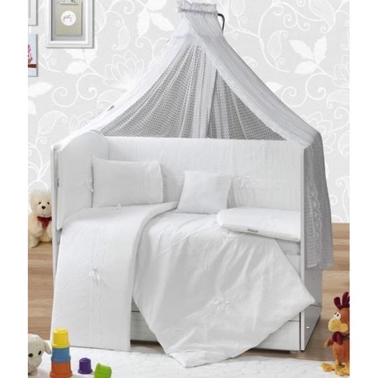 Baby Elf Sedef Bebek Uyku Seti +Cibinlik (60 x 120 cm) SD60 Beyaz