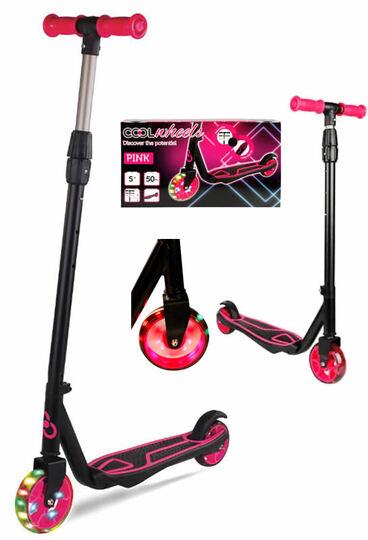FRK Cool Wheels 5 + Yaş  Işıklı 2 Tekerlekli Scooter Pink