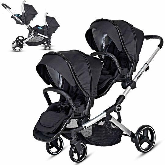 Prego İbiza Pro Travel Sistem İkiz Bebek Arabası